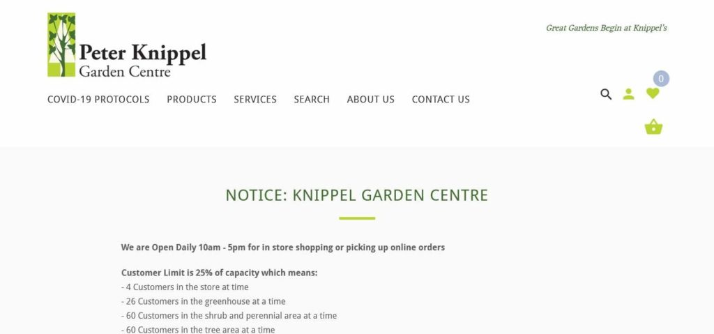 Peter Knippel Garden Centre's Homepage