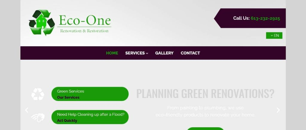 Eco-One Renovation and Restoration's Homepage