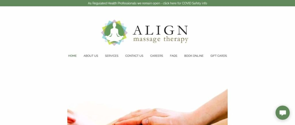 Align Massage Therapy's Homepage